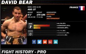 Sherdog DAVID BEAR