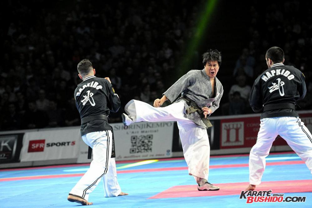 Maître Lee Kang Jong et son équipe ont participé au Festival des Arts Martiaux