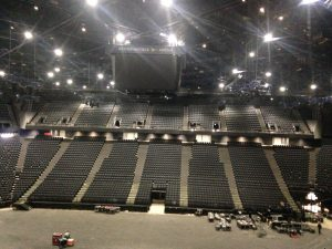 La salle de l'AccorHotel Arena est bientôt prête à vous accueillir...