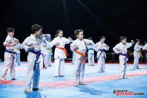 Les jeunes élèves de Franck Pérétel en Kyokushinkai
