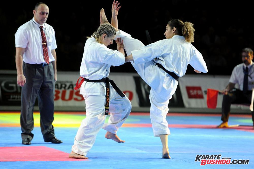 Démonstration d'un combat de Kyokushinkai à l'AccorHotels Arena