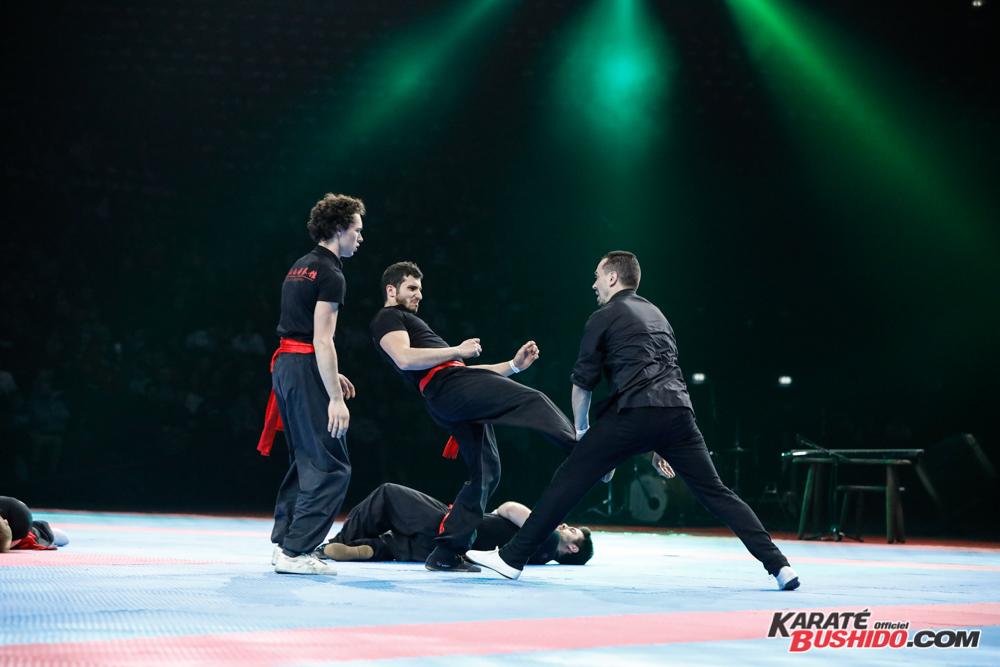 L'équipe de Kung Fu Pak Mei avec Benjamin Culos