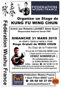 affiche stage Lyon