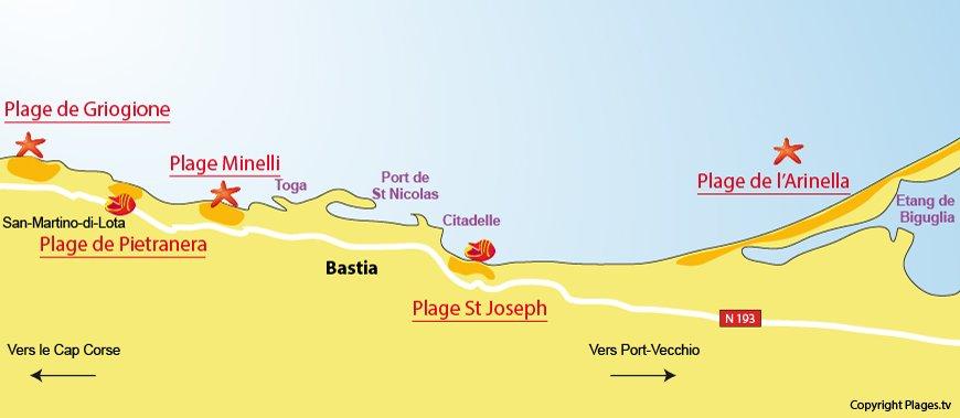carte-plages-bastia-corse